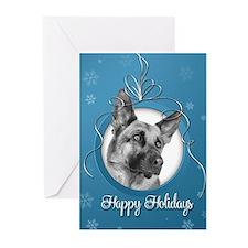 Elegant German Shepherd Holiday Cards (Pk of 10)