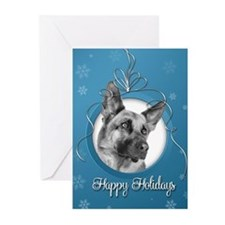 Elegant German Shepherd Holiday Cards (Pk of 20)