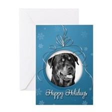 Elegant Rottweiler Holiday Card