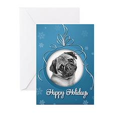 Elegant Pug Holiday Cards (Pk of 10)