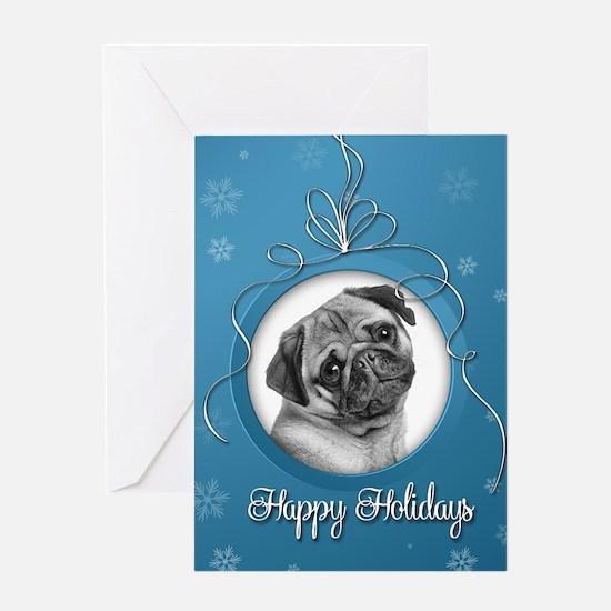 Elegant Pug Holiday Card
