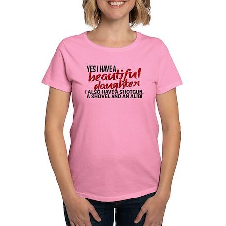 Shotgun, Shovel & an Alibi Women's Dark T-Shirt