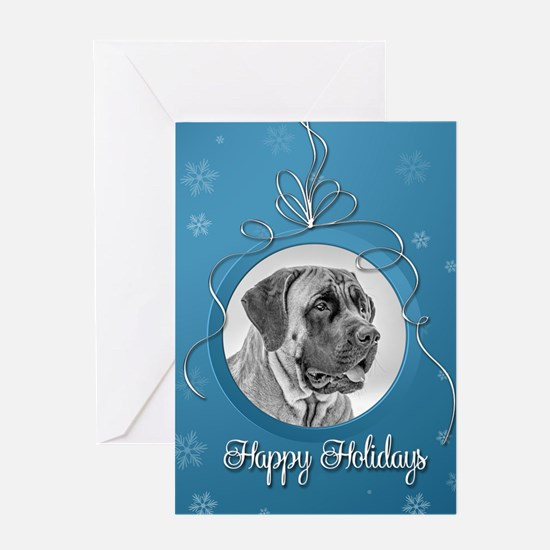 Elegant Mastiff Holiday Card