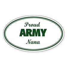 Proud Army Nana Oval Decal
