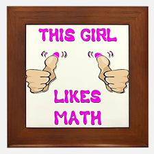 This Girl Likes Math Framed Tile