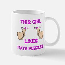 This Girl Likes Math Puzzles Mug