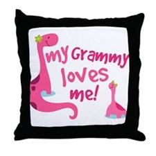 My Grammy Loves Me Throw Pillow