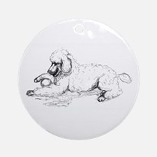 Playful Poodle Ornament (Round)