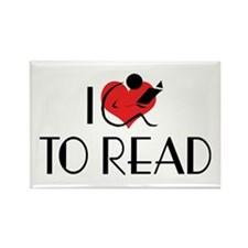 I Love To Read Rectangle Magnet (10 pack)