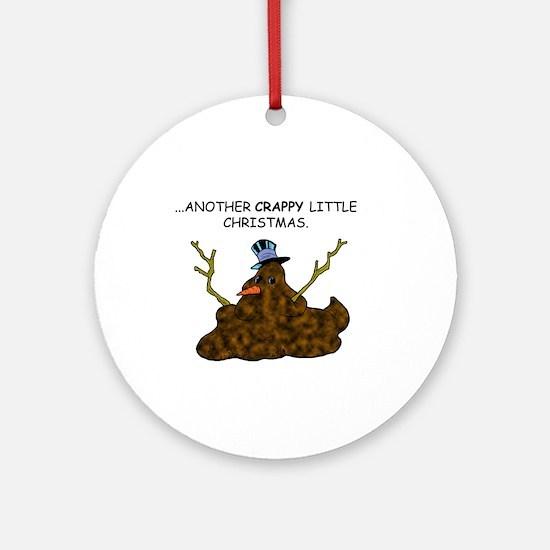 Crappy Snowman Ornament (Round)