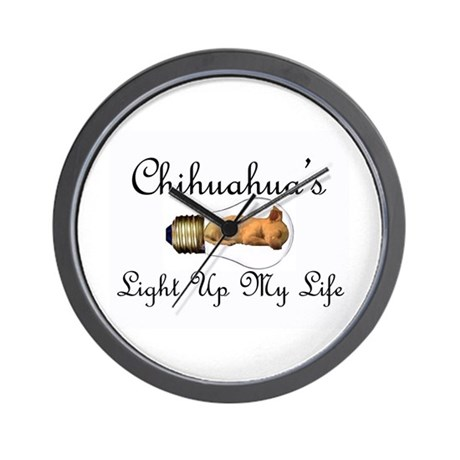 Chihuahuas Light Up My Life Wall Clock By Bodydesigns