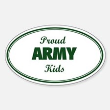 Proud Army Kids Oval Decal