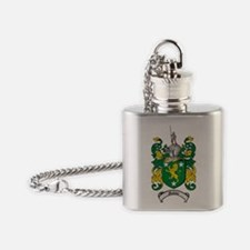 Malone Family Crest / Coat of Arms Flask Necklace