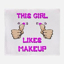 This Girl Likes Makeup Throw Blanket