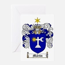 Martin Family Crest / Martin Coat of Greeting Card