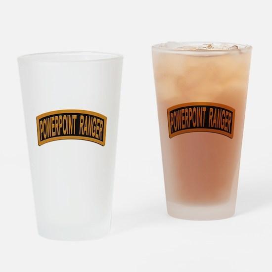Powerpoint Ranger logo Drinking Glass