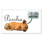 Porsha Dreams Rectangle Sticker