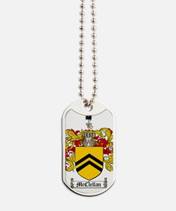 McClellan Family Crest - coat of arms Dog Tags