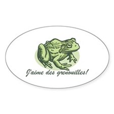 Love the Frog French Oval Decal