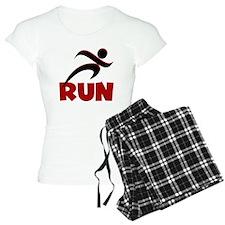 RUN in Red pajamas