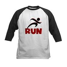 RUN in Red Tee