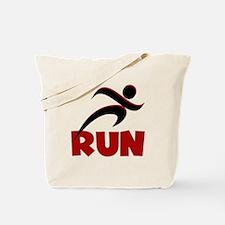 RUN in Red Tote Bag