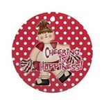 Red Cheering is Happiness Ornament (Round)