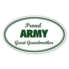 Proud Army Great Grandmother Oval Decal