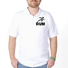 RUN Black T-Shirt