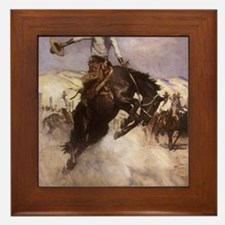 Breezy Riding by Koerner Framed Tile