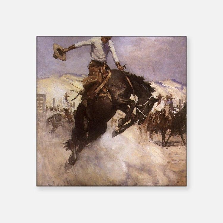 "Breezy Riding by Koerner Square Sticker 3"" x 3"""