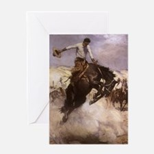 Breezy Riding by Koerner Greeting Card