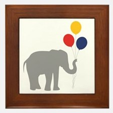 Party Elephant Framed Tile