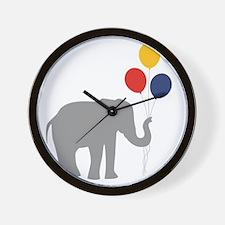 Party Elephant Wall Clock