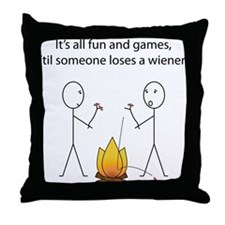 All Fun and Games Throw Pillow