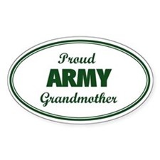 Proud Army Grandmother Oval Decal