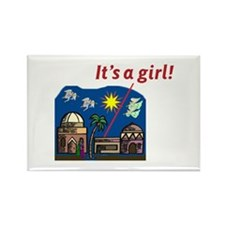 It's a Girl! - Rectangle Magnet (100 pack)