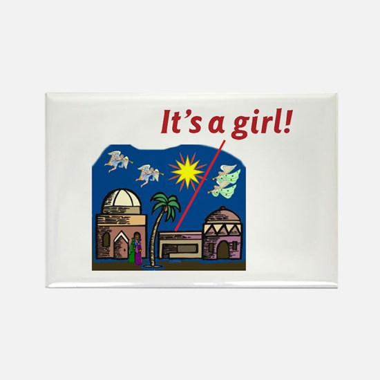 It's a Girl! - Rectangle Magnet