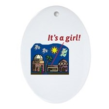 It's a Girl! -  Oval Ornament