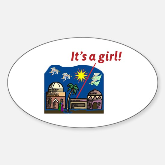 It's a Girl! - Oval Decal