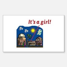 It's a Girl! - Rectangle Decal