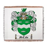 Mccabe family crest Woven Blankets