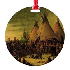 Sioux War Council by George Catlin Ornament