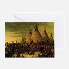 Sioux War Council by George Catlin Greeting Card