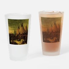 Sioux War Council by George Catlin Drinking Glass