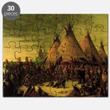 Sioux War Council by George Catlin Puzzle