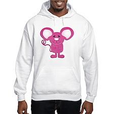 cute pink polka dot mouse Hoodie