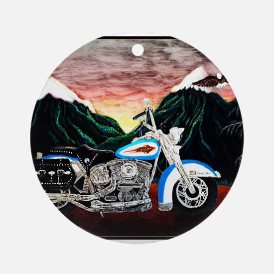 Motorcycle Dream Ornament (Round)