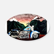 Motorcycle Dream Oval Car Magnet