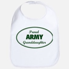 Proud Army Granddaughter Bib